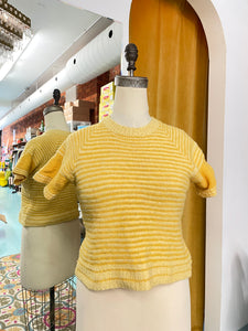 S: Vintage Sunshine Short Sleeve Sweater