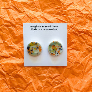 Ceramic Stud Earrings by Meghan Macwhirter