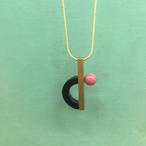 Pink Planet Necklace by SewaSong