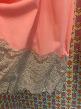 Load image into Gallery viewer, L: Vintage Pink and Grey Lace Lounge Pants