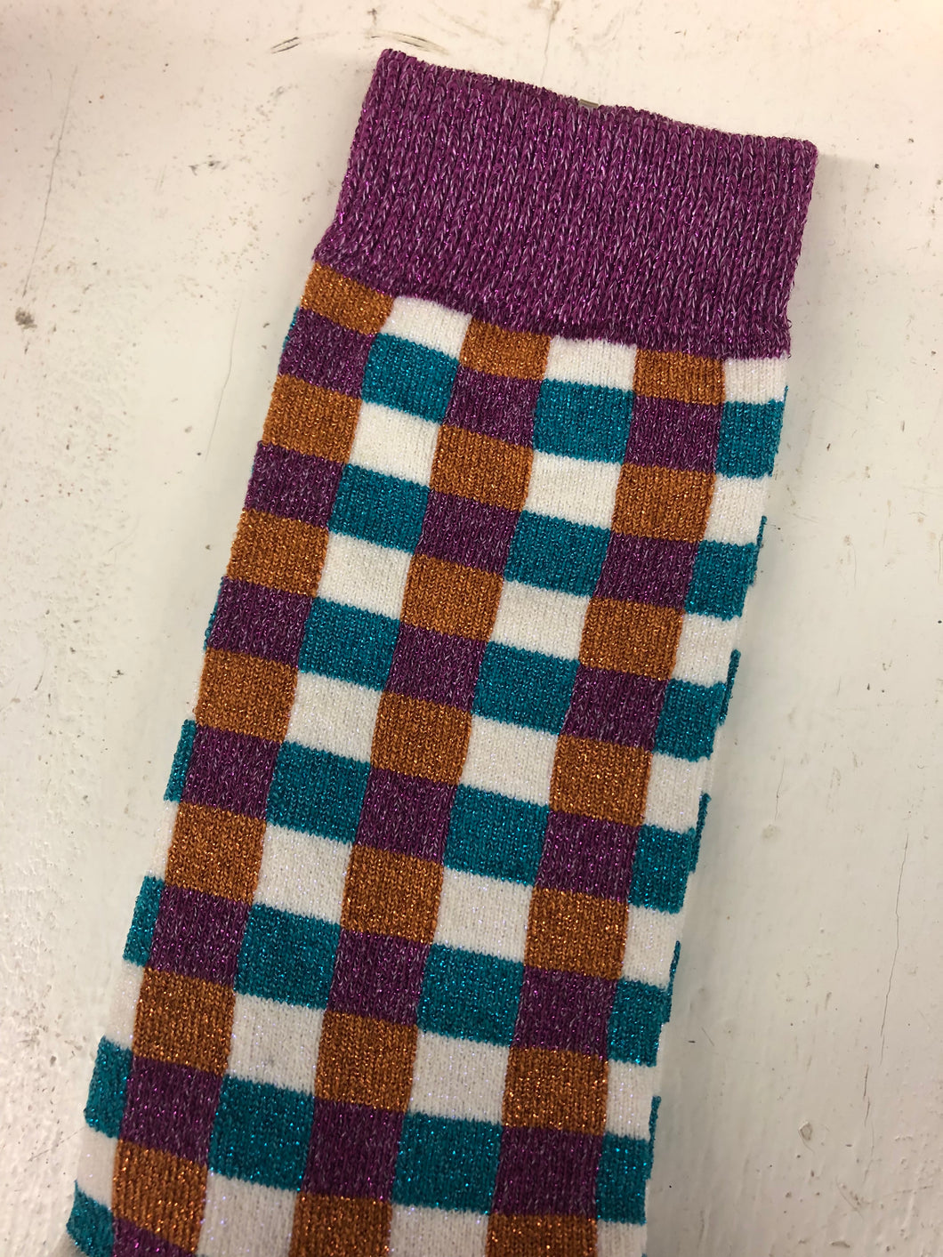 Glitter Basket Sock