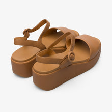 Load image into Gallery viewer, Camper Platform Sandals: Tan