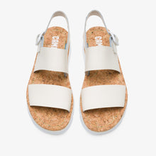 Load image into Gallery viewer, Camper Sandal: White Leather