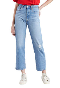 Levi's Ribcage Jeans: Light Blue