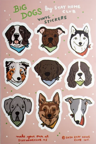 Big Dogs Sticker Sheet
