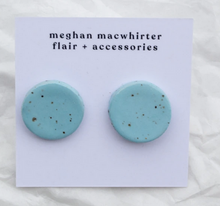 Load image into Gallery viewer, Ceramic Stud Earrings by Meghan Macwhirter