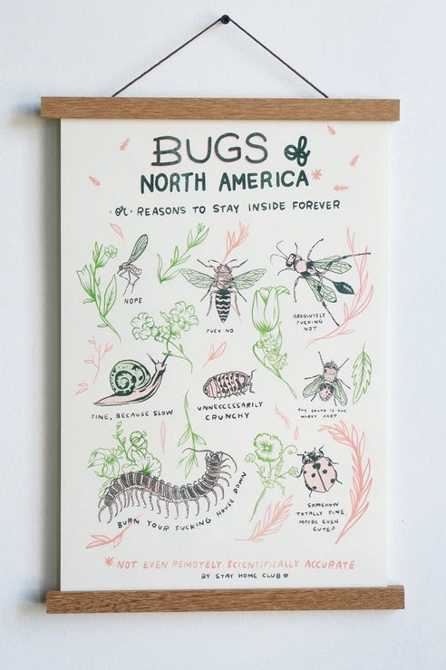 Bugs of North America Risograph Print