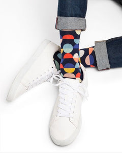 Men's Geometric Circle Socks