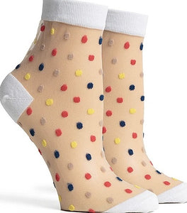 Sheer Confetti Ankle Socks