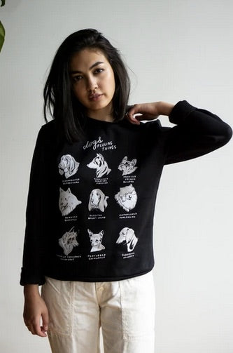 Dogs Feeling Things Sweatshirt