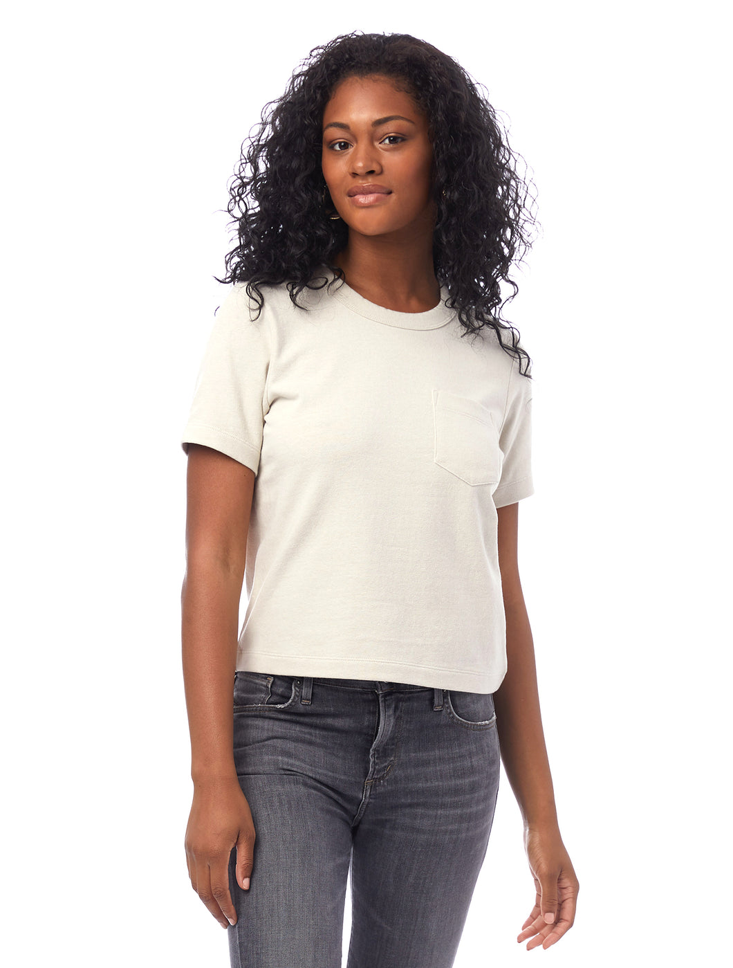 Recycled Cropped Pocket Tee by Alternative Apparel (2 colours)