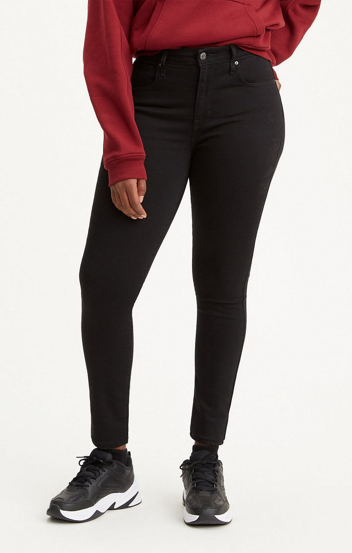 721 High Rise Skinny: Black