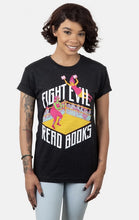 Load image into Gallery viewer, Fight Evil, Read Books Tshirt