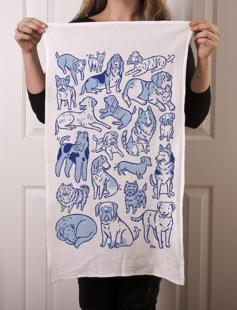 Tea Towel: Dog Days