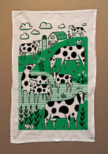 Load image into Gallery viewer, Tea Towel: Greener Pastures
