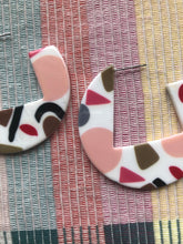 Load image into Gallery viewer, Terrazzo Geometric Hoops