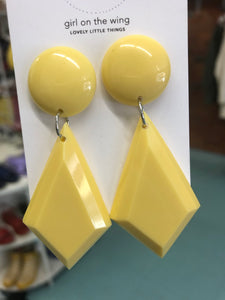 Yellow Geometric Drops