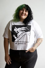 Load image into Gallery viewer, Ok Goodnite Cropped Loose Tee
