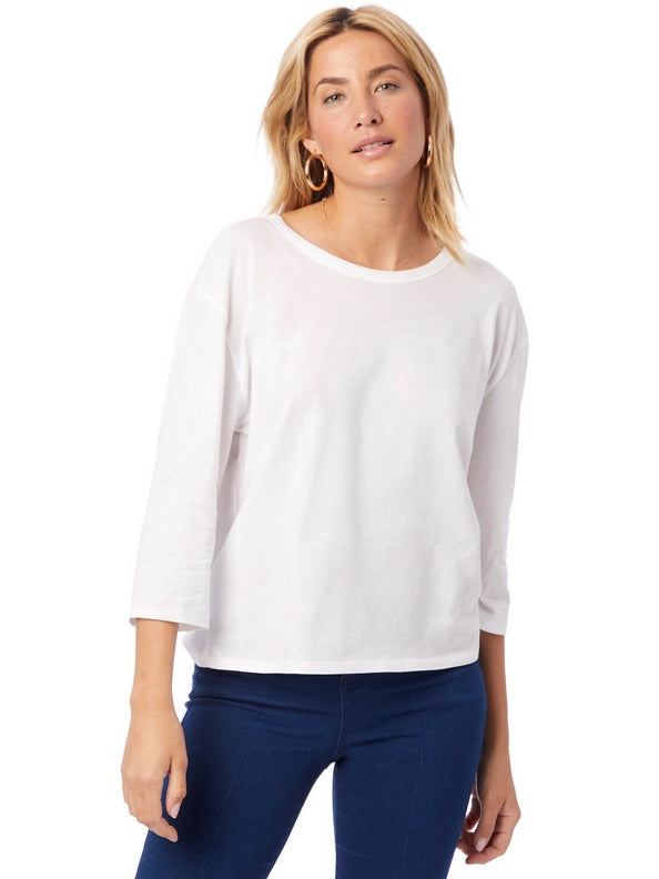 Organic Cotton 3/4 Sleeve Shirt by Alternative Apparel