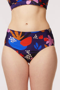 Abstract Floral Bikini Bottom