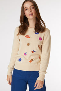 Neighbourhood Walk Embroidered Sweater