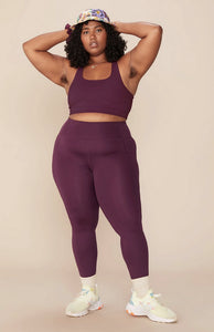 Plum Compressive High-Rise Legging by Girlfriend Collective