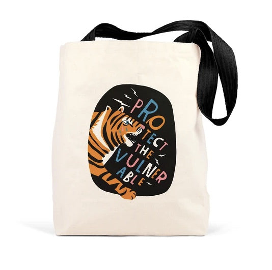 Protect the Vulnerable Tote by Lisa Congdon