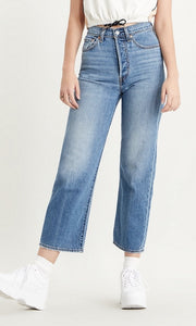 Levi's Ribcage Jeans: Faded Blue
