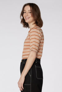 Pumpkin Striped Tee