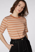 Load image into Gallery viewer, Pumpkin Striped Tee