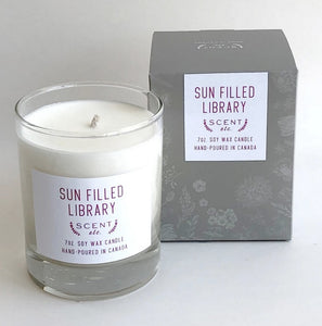 Candle: Sun-Filled Library