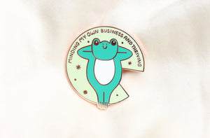 Minding My Own Business Enamel Pin