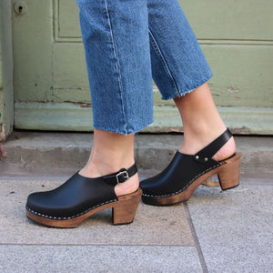 Lotta High-Heel Slingback Clogs