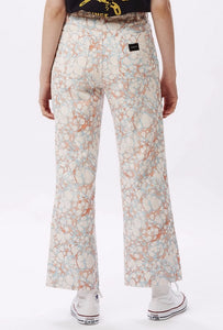 Marbled Ink High-Waisted Jeans