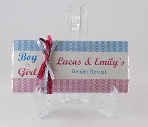 Personalised Gender Reveal Chocolate Bar