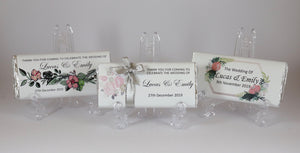 Personalised Wedding Engagement Chocolate Bars