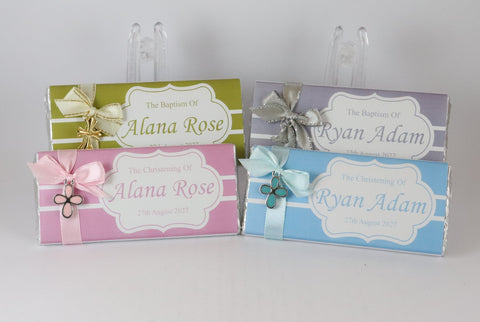 Personalised Christening Baptism Chocolate Bars