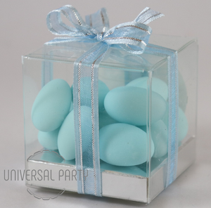 Personalised PVC Box Filled With Blue Sugared Almond