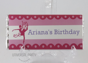 Personalised Ballerina Themed Chocolate Bar