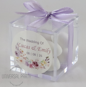 sugared almond acrylic box favours