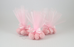 Pink Tulle Christening Baptism Bombonieres Favours