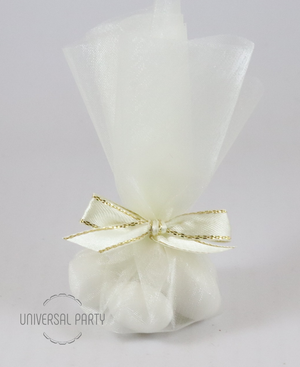 Ivory Wedding Tulle Sugared Almond Favour Bombonieres