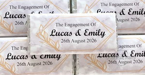Personalised Marble Themed Chocolate Bar