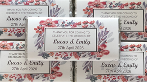 Personalised Luxe Floral Chocolate Bar