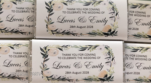 personalised wedding chocolate bar