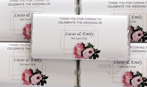 personalised floral chocolate bars