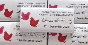 Personalised Love Birds Chocolate Bar