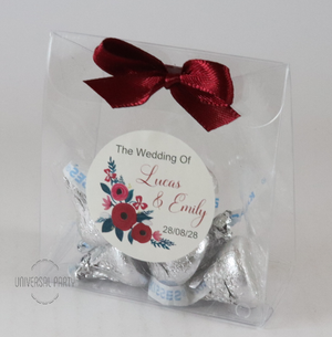 Hersheys kisses chocolate favours