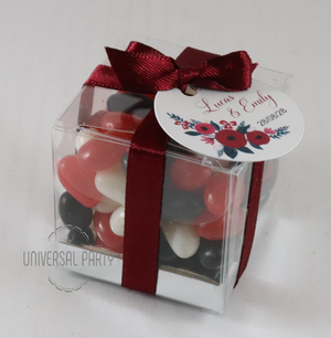 personalised bombonieres favours with box and tag