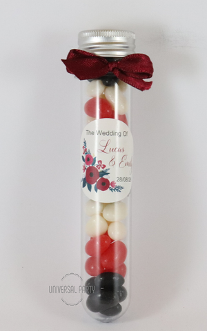 test tube jar favours personalised
